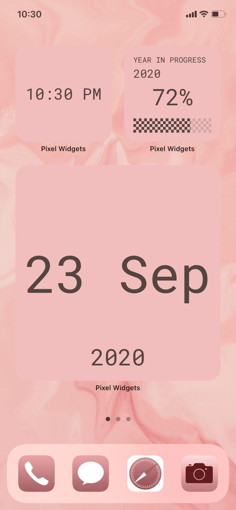 Pink Ios14 Aesthetic Widget Design Wallpaper Widget Design Widget Pixel