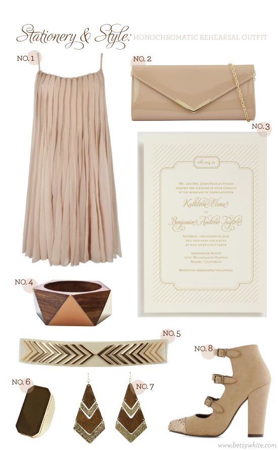Stationery & Style: Monochromatic Rehearsal Outfit