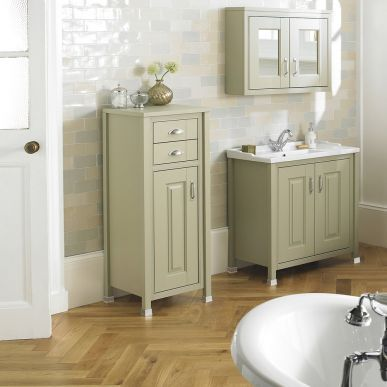 The Pistachio tall boy unit from Old London will provide your bathroom with valuable storage space