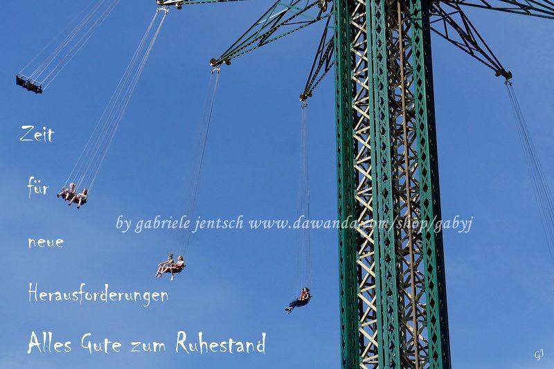 """Karte zum Ruhestand """"Karussel"""" von PHOTOGLÜCK auf DaWanda.com"""