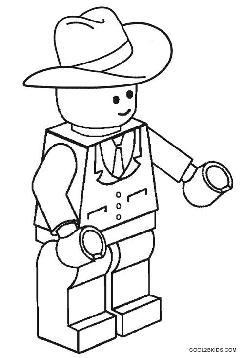 Cowboy Coloring Pages Lego Coloring Pages