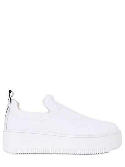 WINDSOR SMITH Speedy Neoprene & Mesh Sneakers, White Rubber platform sole  Mesh covered neoprene upper Back pull loop Logo detail Seam details Partial  ...