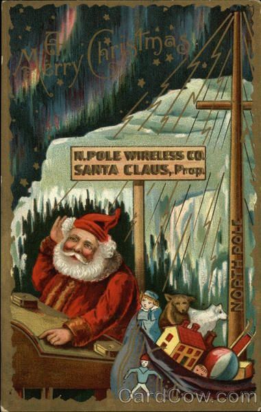 A Merry Christmas, N.Pole Wireless Co., Santa Claus, Prop