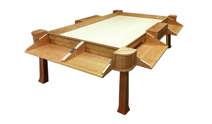 Geek Chic The Geekiest Furniture Ever Made House Ideas Custom Wooden Gaming Table