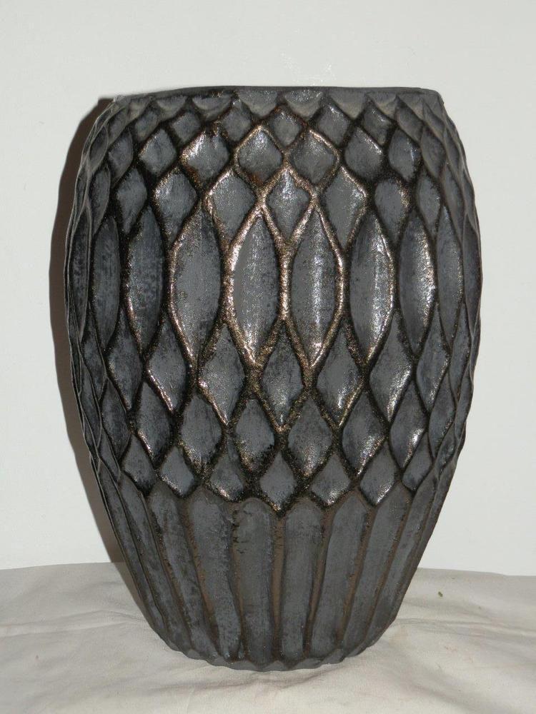 Stunning Villa Collection Denmark Large Black Ceramic Vase Vases