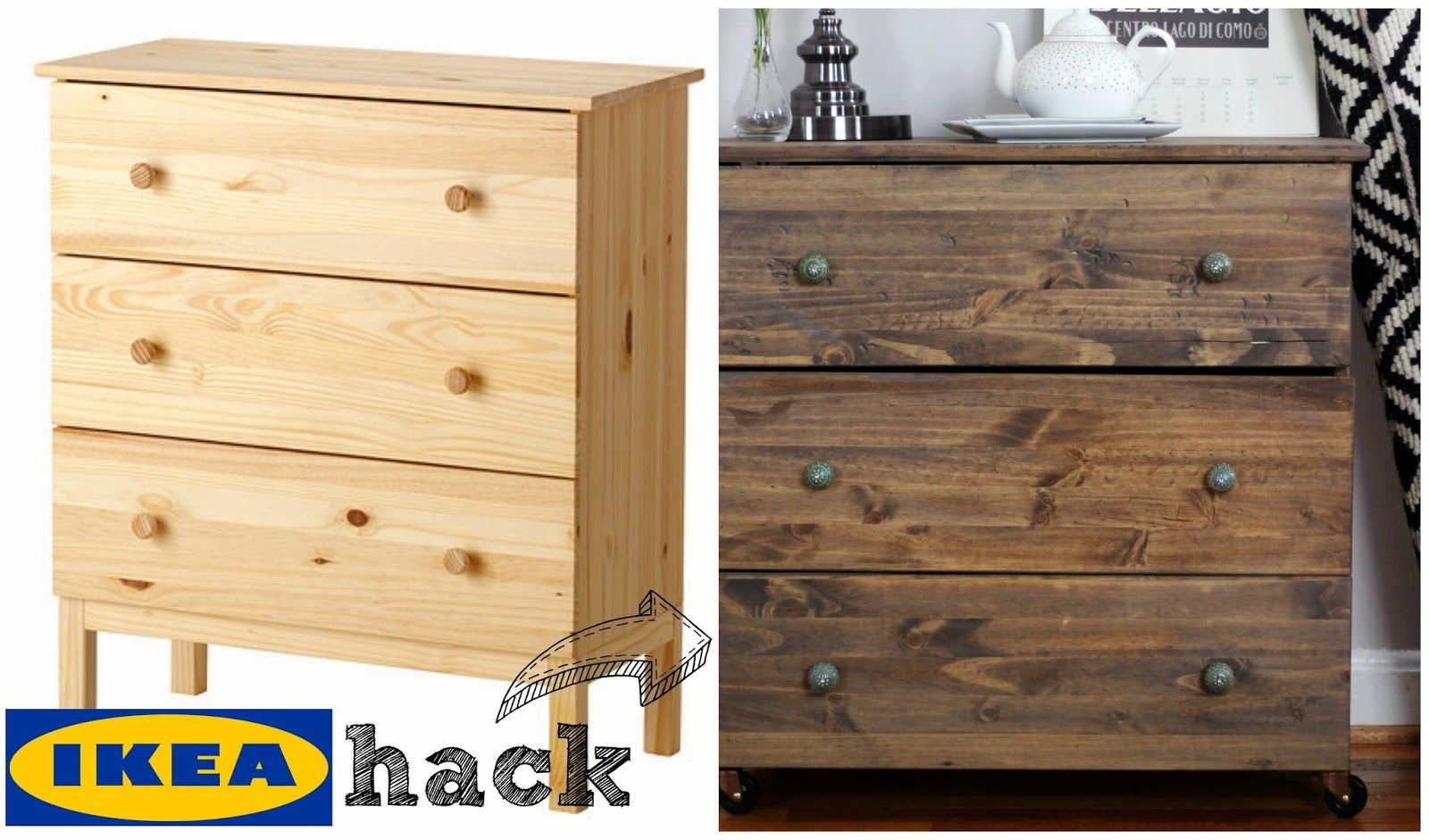 Ikea hack restoration hardware inspired bedside table for Restoration hardware bedside tables