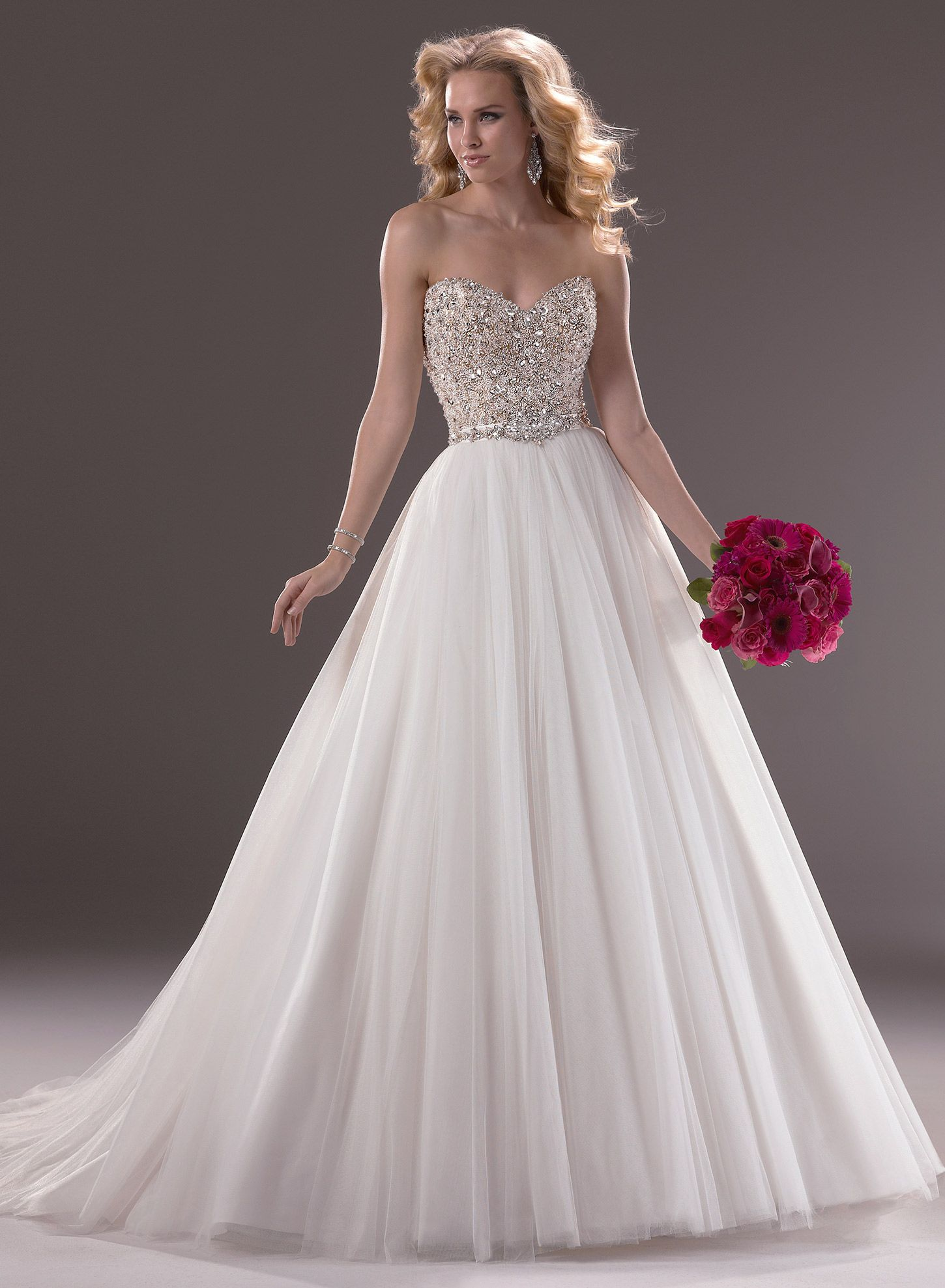 Beformal.com.au SUPPLIES Charming A-line Beading Sweetheart Tulle ...
