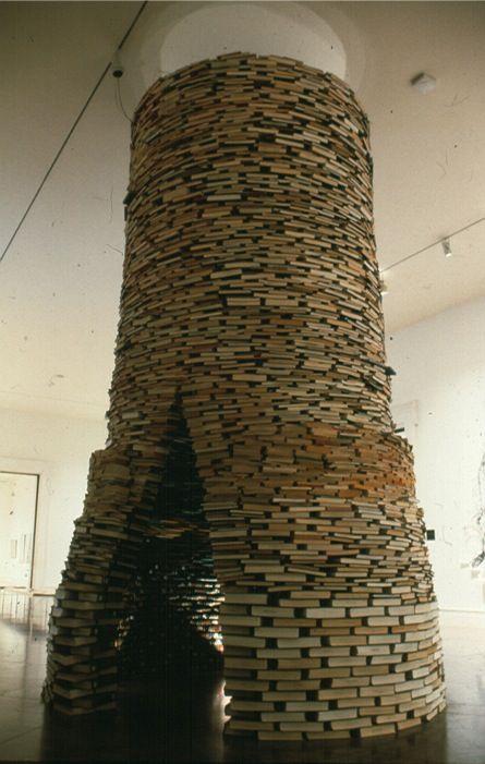 A world made of books, much like my world! By Cdn artist Tom Bendsten.