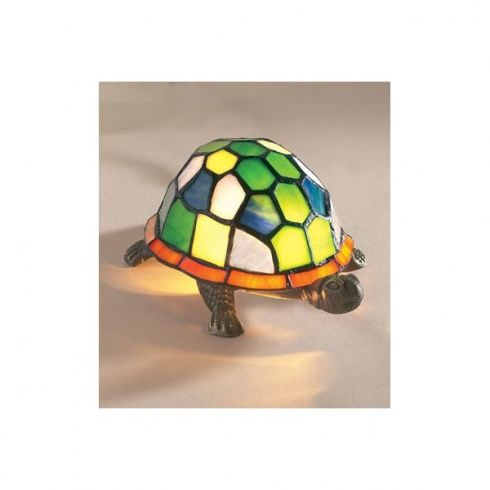 ac038145a23 Loxton Lighting Tiffany Tortoise Lamp with Green   Blue Glass ...