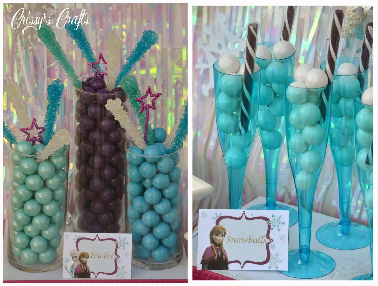 Frozen birthday party decorations ideas  Crissyus Crafts Disneyus Frozen Party  GIVEAWAY  Party party