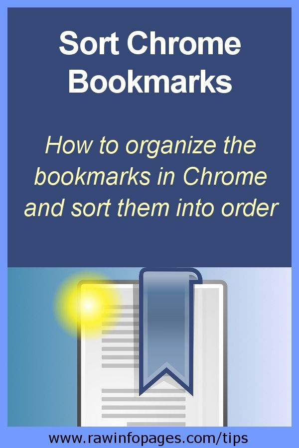 Sort Chrome bookmarks into alphabetical or any order