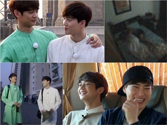 Exo S Suho And Shinee S Minho Shows Their Affection For Each Other On Fluttering India Suho Shinee Minho