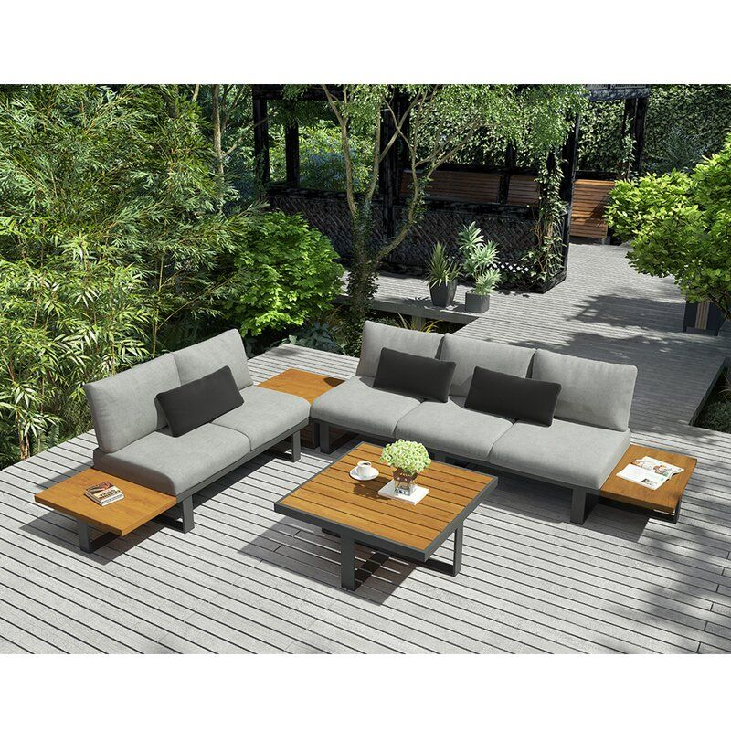 Platform II 4 Piece Sectional Seating Group with Cushions
