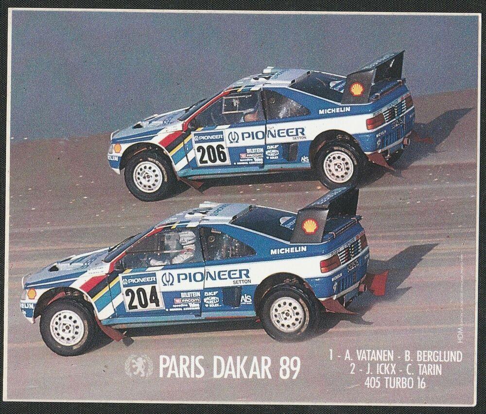 PEUGEOT SPORT 405 TURBO 16 T16 PARIS DAKAR RALLY 1989