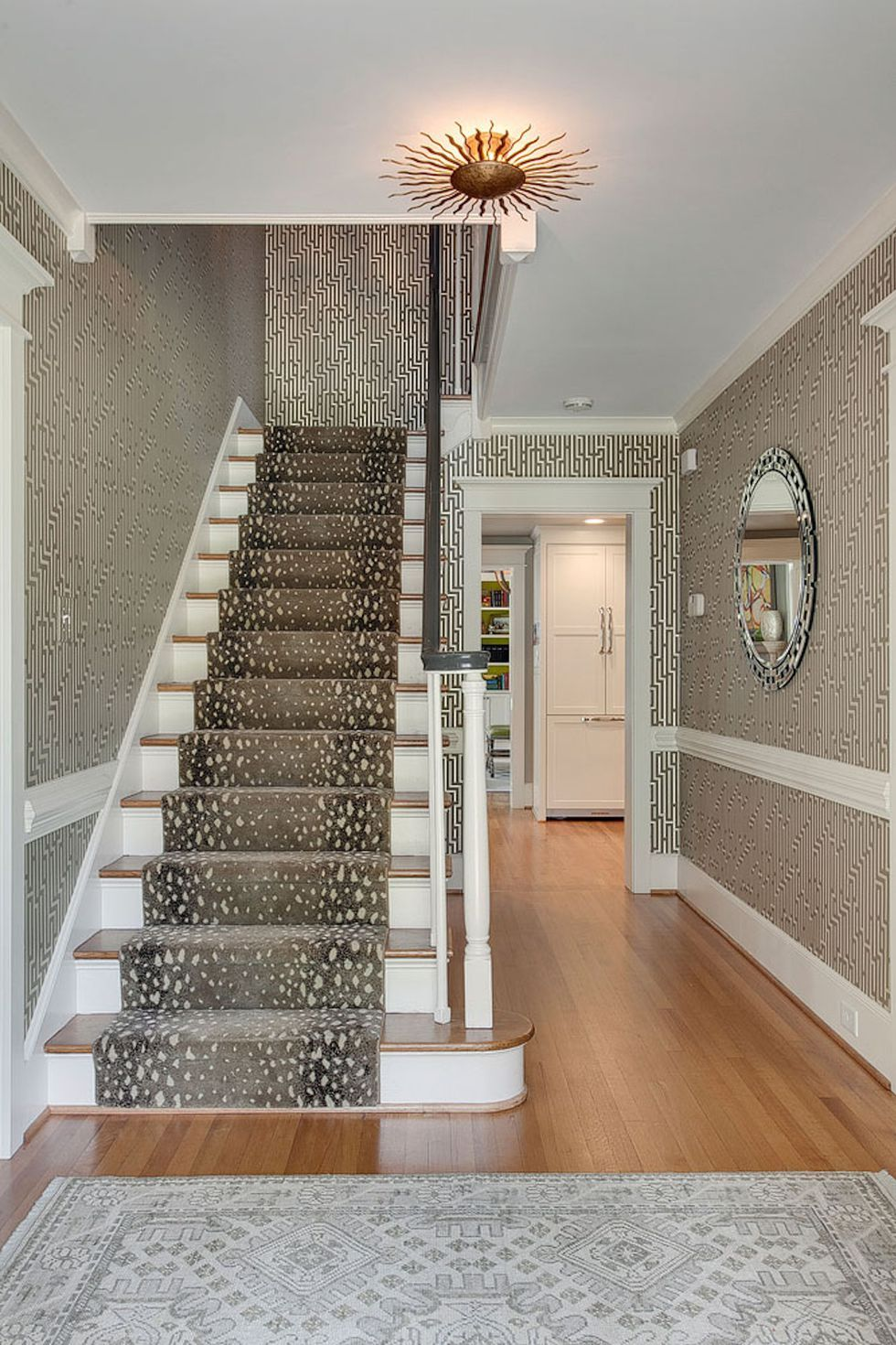 27 Stylish Staircase Decorating Ideas   Staircase wall ... on Creative Staircase Wall Decorating Ideas  id=65112