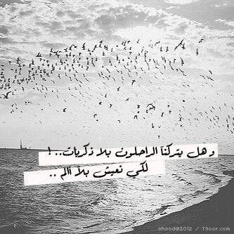 وهل يتركنا الراحلون بلا ذكريات لكي نعيش بلا آلم Arabic Words Arabic Words
