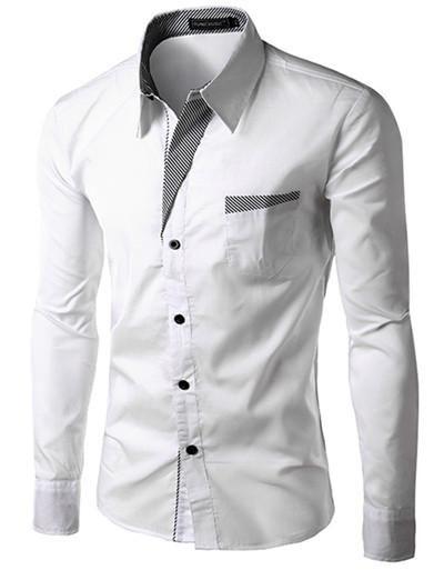 Dress Fashion Quality Long Sleeve Shirt Men Design,Formal Casual ...