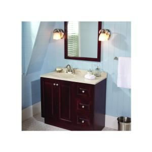 glacier bay northwood 36 in w x 18 in d bath vanity in dark cherry with composite vanity top in maui and mirror