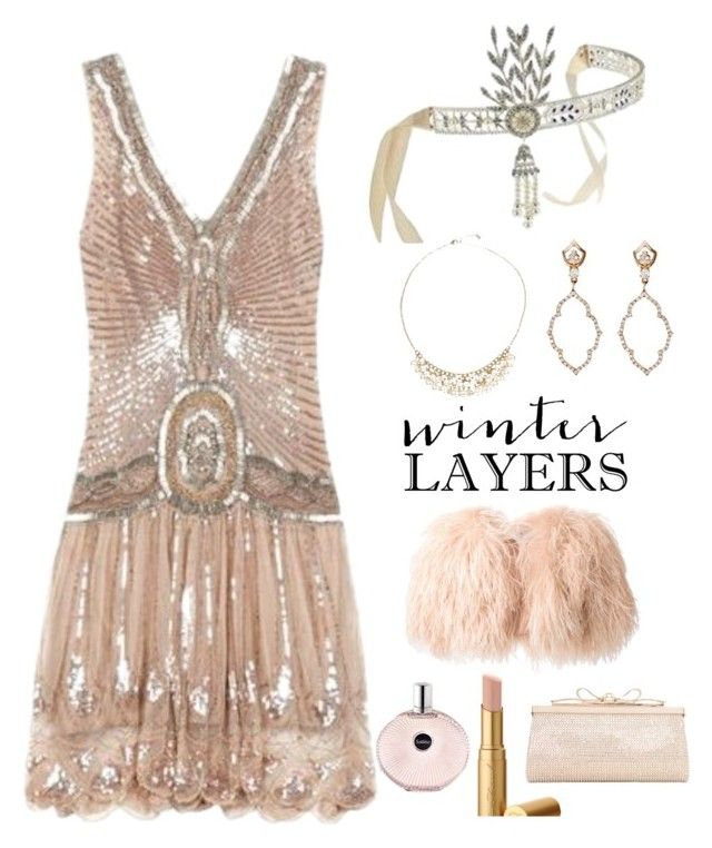 Roaring 20s Theme Party Winter Layers Slip Dress