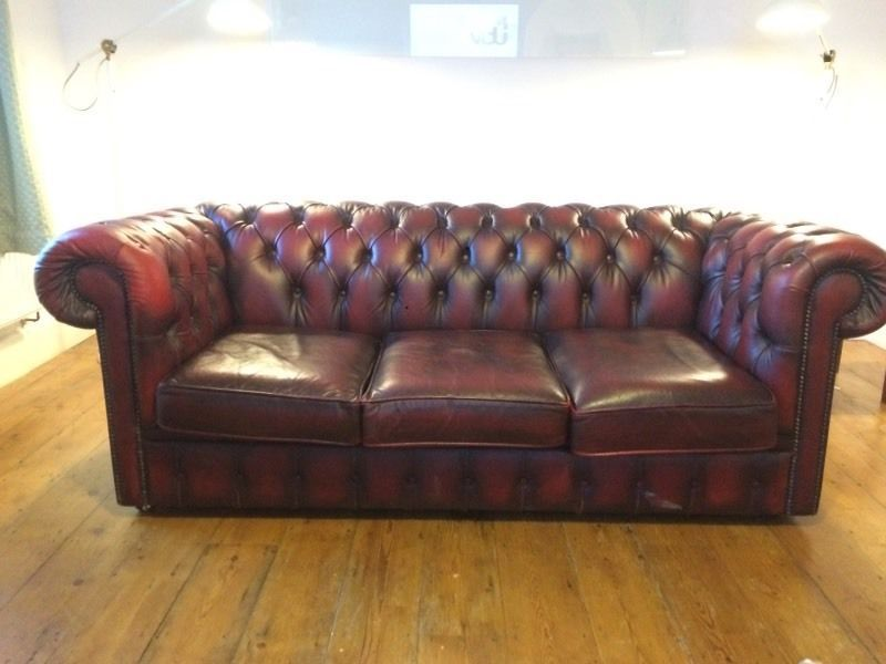Chesterfield Sofa On Gumtree Oxblood Red Leather 3 Seater Vintage Wheels Second Hand