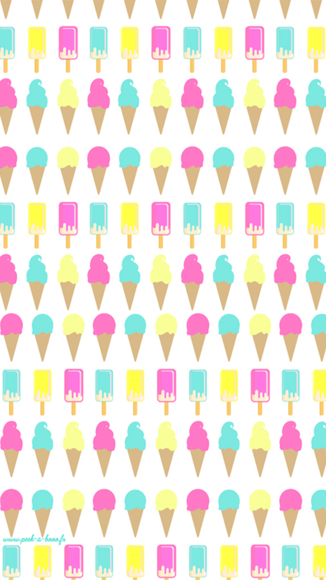 Ice Cream Cone Pattern Find More Cute Iphone Android Wallpapers And Backgrounds At Pret Kawaii Wallpaper Backgrounds Phone Wallpapers Winter Wallpaper