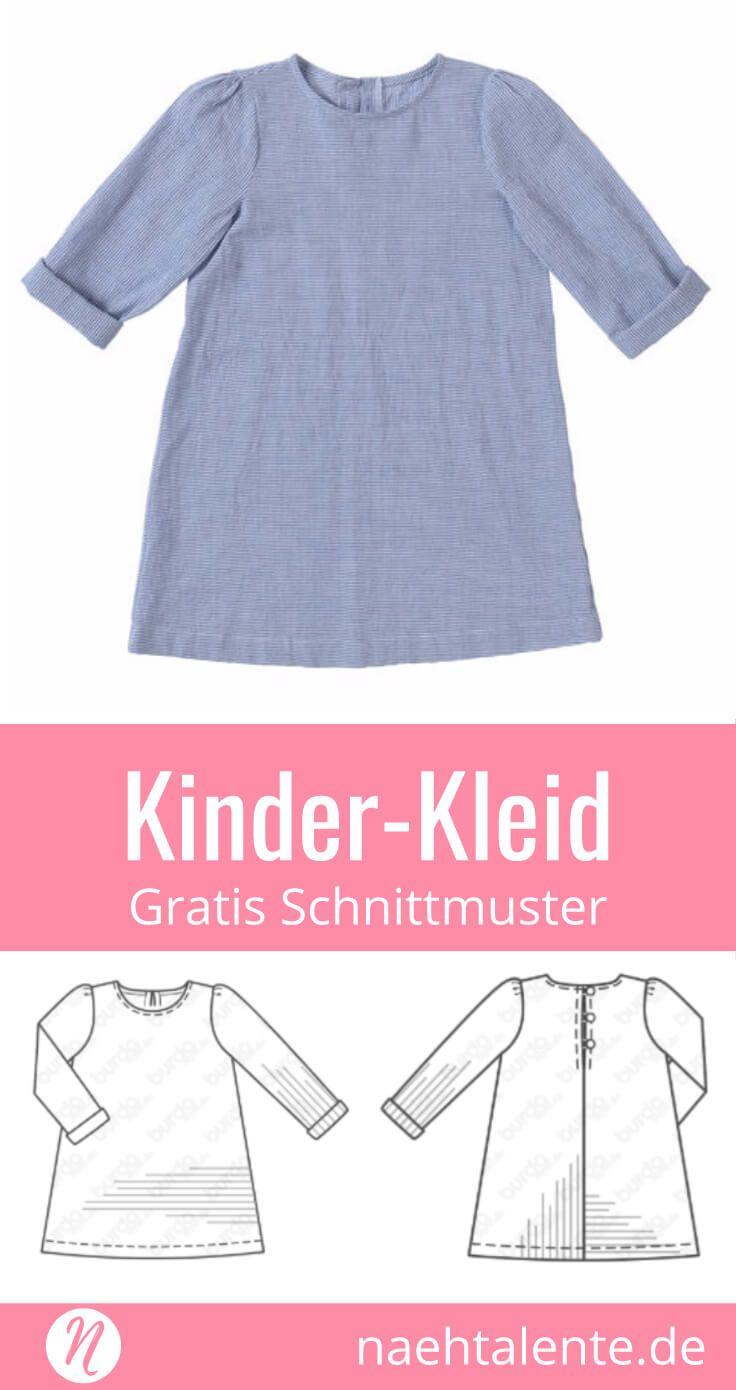 Mädchenkleid Freebook Gr. 98 - 128 für Webware | Pinterest ...