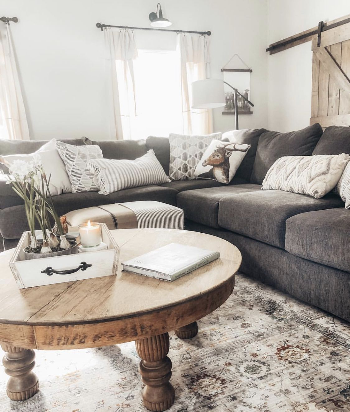 The Bermuda Right Facing Sofa Chaise Sectional In Charcoal
