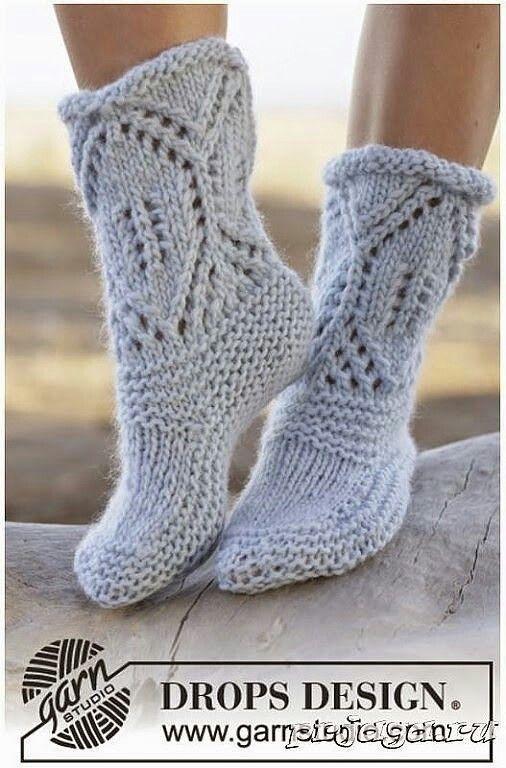 Ажурные носки спицами | Вязание-идеи | Pinterest | Strümpfe/Socken ...