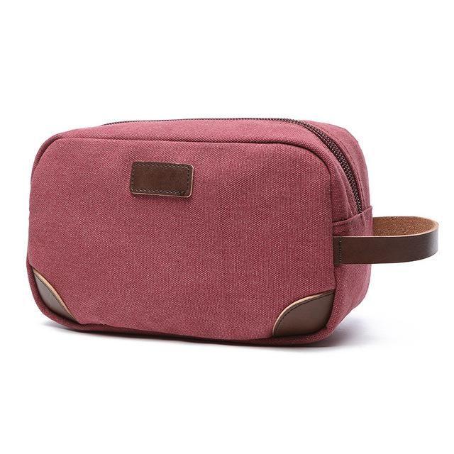 d481dbcfb0c8 Canvas Travel Bag Toiletry Organizer Shaving Dopp Kit Travel Cosmetic Bag  Makeup Men Handbag Casual Zipper Wash Cases Women