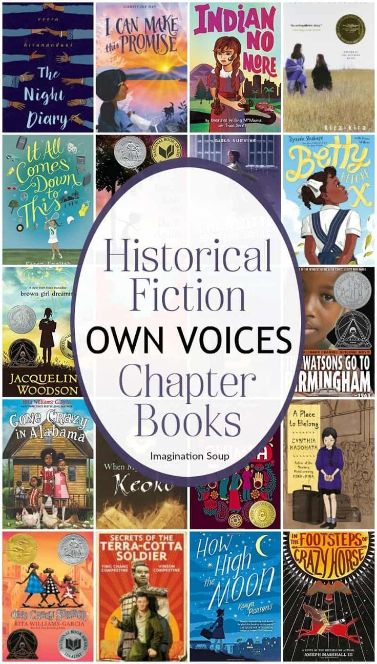 Discover amazing, diverse historical fiction chapter books written by Own Voices (#ownvoices) for children ages 6 to 16. Printable list included.