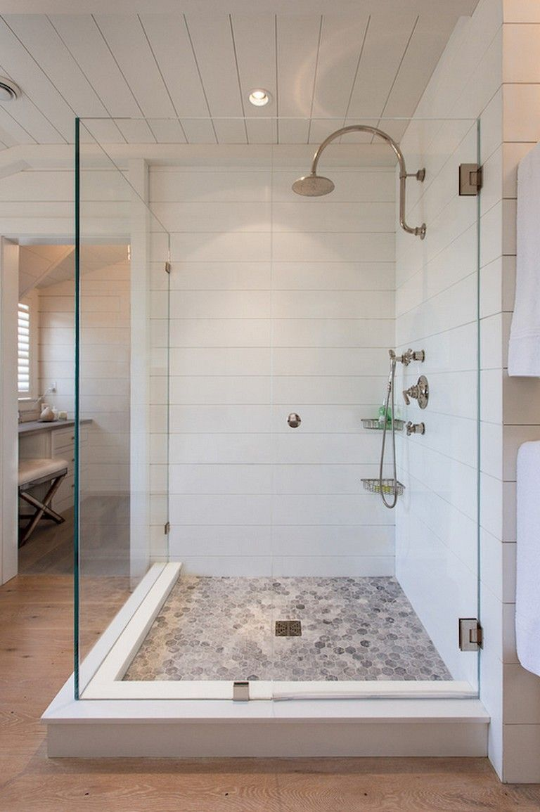 25 Awesome Farmhouse Bathroom Tile Shower Ideas Walk In Shower Room Floor Walls Bathro Cottage Bathroom Design Ideas Farmhouse Shower Bathroom Shower Tile