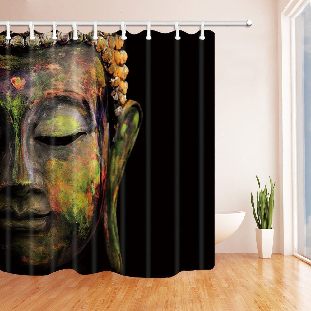 Pin En Buddha Shower Curtain