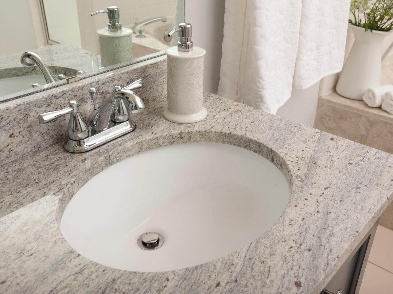 How To Install An Undermount Sink And A Granite Tile Countertop Granite Tile Countertops Tile Countertops Countertops