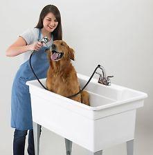 Dog Wash Tub Grooming Utility Pet Bath Hand Held Shower Sprayer