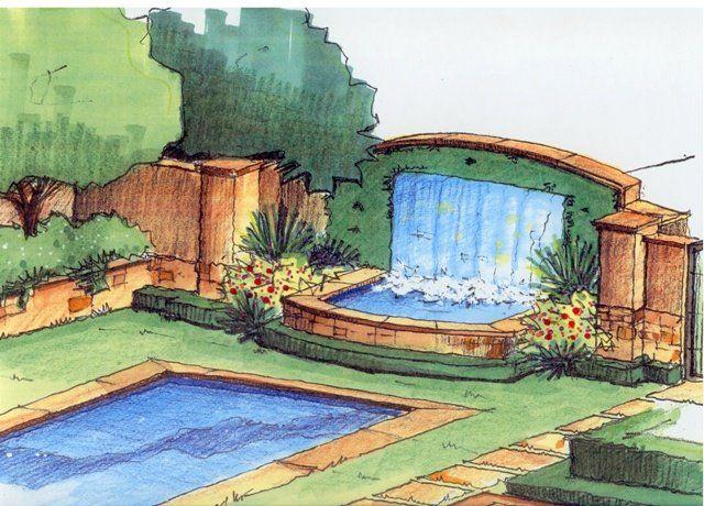 Beautiful Landscape Architecture Plan backyard waterfall and a pool or pond   backyard ideas   pinterest