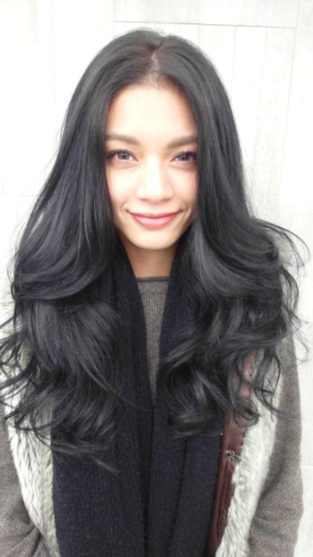 dark gray hair color make the hair lift gray color
