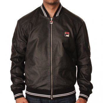 a575f5687c22 Fila Vintage Match Day Leather Jacket | Vintage Leather | Fila ...