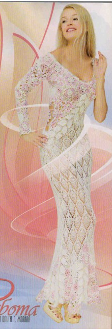 Crochet maxi dress…..