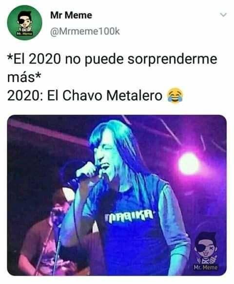 El Chavo Del 8 Metalero Quien Esta Detras Del Nuevo Meme Viral Hombres Camiseta Negra Estilo Rockero