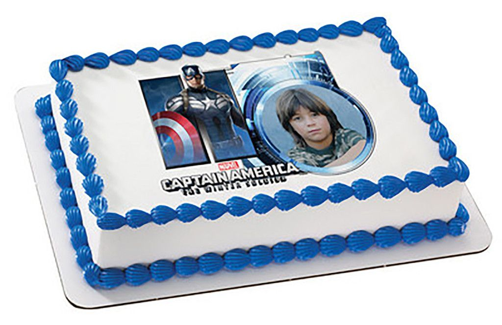 Captain America The WInter Soldier - Edible Image Cake / Cupcake Topper Personalized Licensed Icing / Frosting Sheet