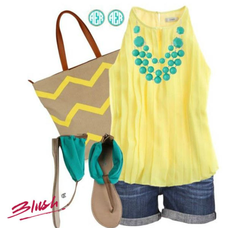 Show off your trendsetting style in cool summer colours. Does your Sunday outfit resembles this one?!