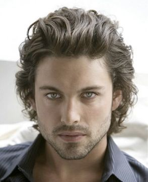 Men Wear Your Wavy Hair In A Medium Length Hairstyle It S