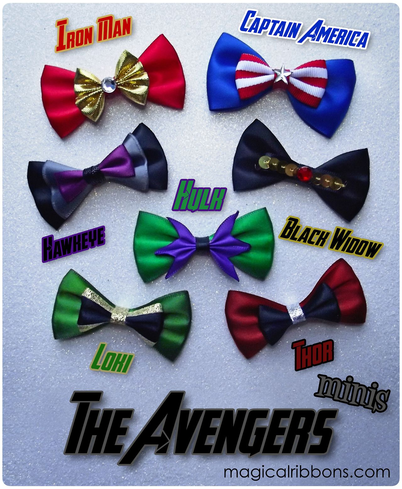 Avengers Bow Ties and Hair Bows