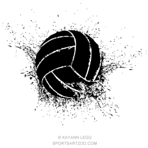 Volleyball Shatter Sportsartzoo In 2020 Volleyball Designs Volleyball Wallpaper Volleyball Drawing