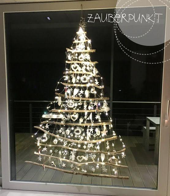Weihnachtsdeko Ideen Für Schaufenster.Weihnachtsbaum Am Fenster Karácsonyi Dekoráció Weihn