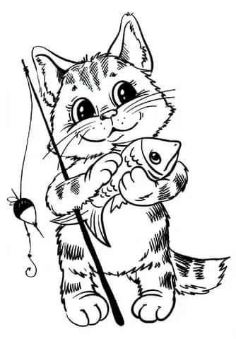 Прикольные картинки для выжигания, котятами смешные картинки