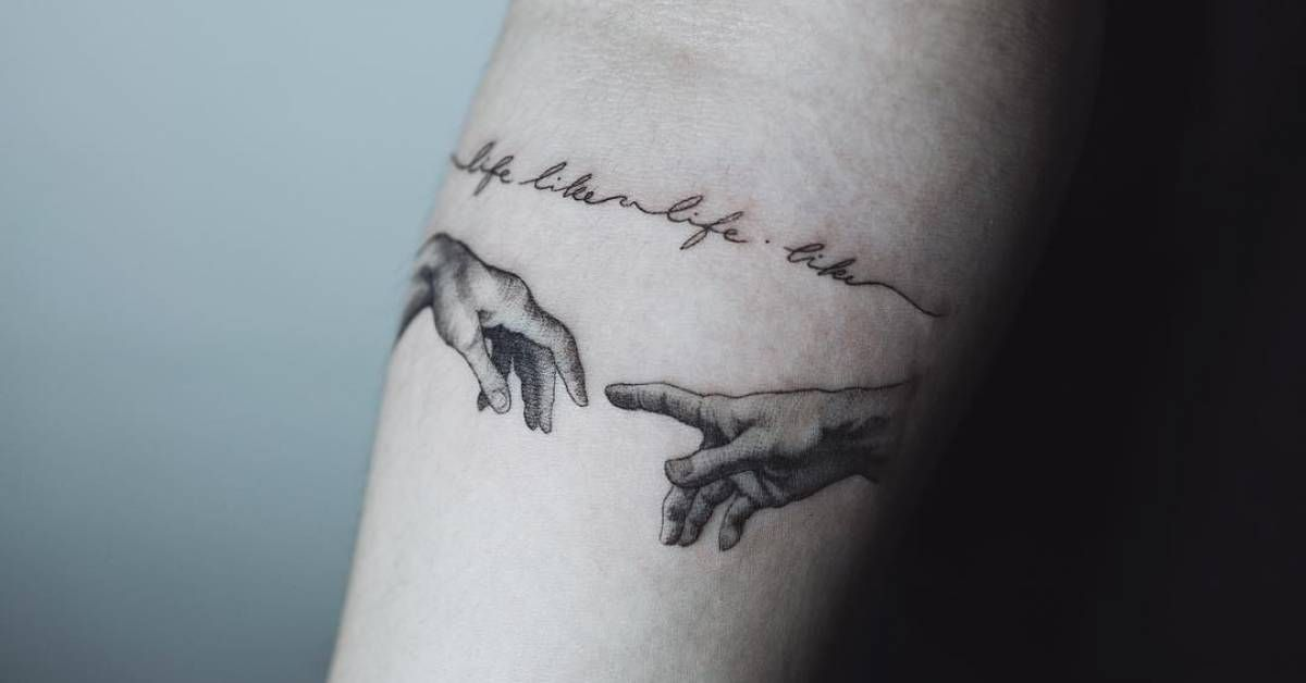 Tattoo Artist Sol Tattoo Tags Categories Classical Renaissance Artworks Michelangelo S Artworks The Creation In 2020 Small Tattoos Tattoos Inner Elbow Tattoos