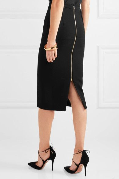 71b5e115a4 Roland Mouret - Arreton Wool-crepe Pencil Skirt - Black - 2019 ...