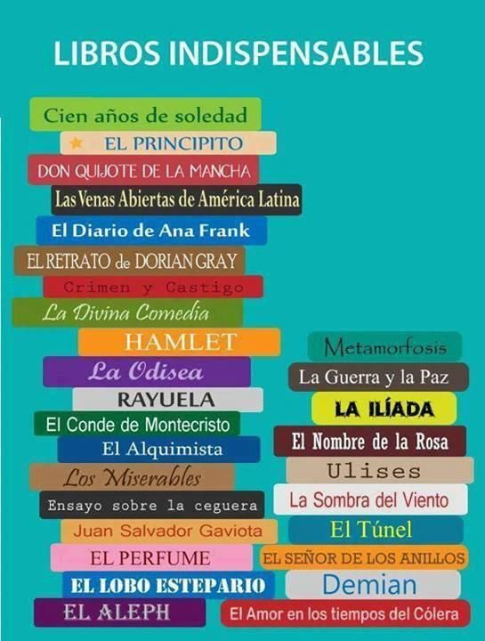 #Libros que no puedes no #leer #infografia #lectura