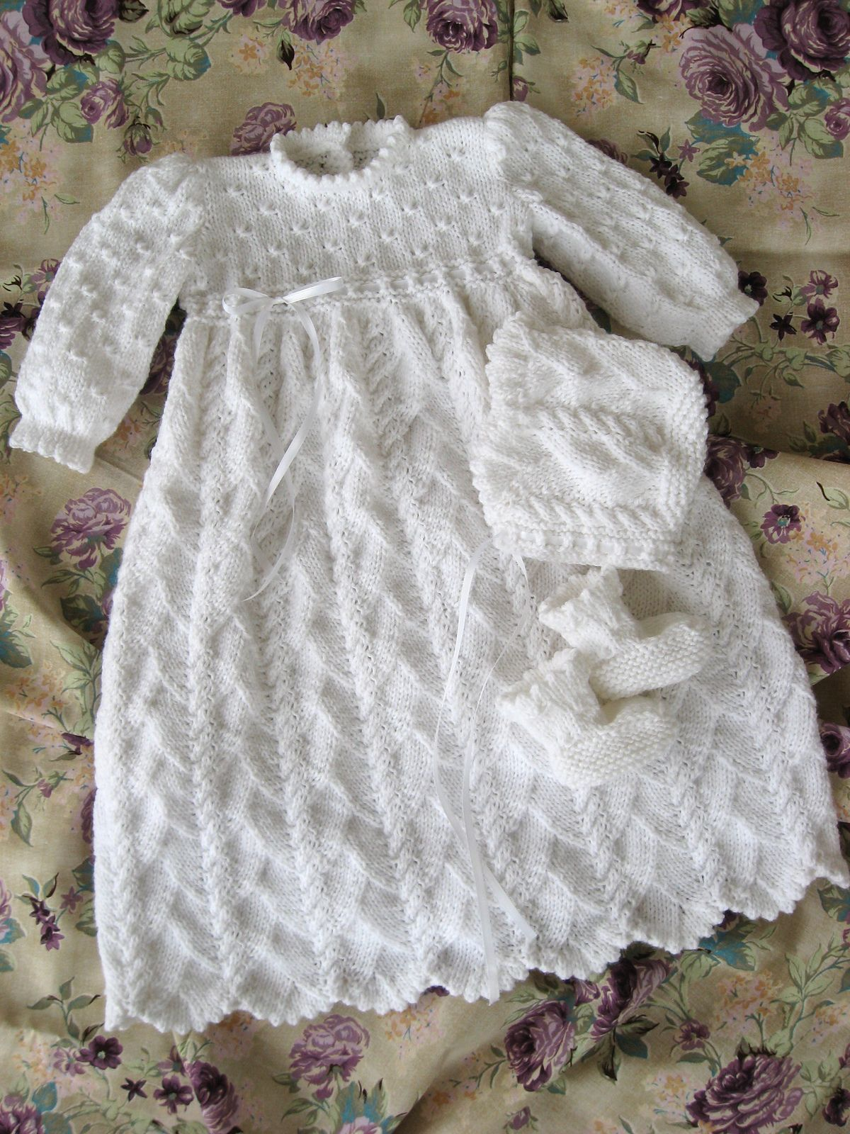 65f73a897 Ocean Breeze Christening Gown pattern by Judy Lamb | knitting | Knit ...